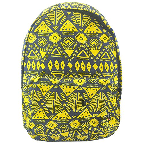 YourDezire , Zaino  unisex adulti Blue/Yellow
