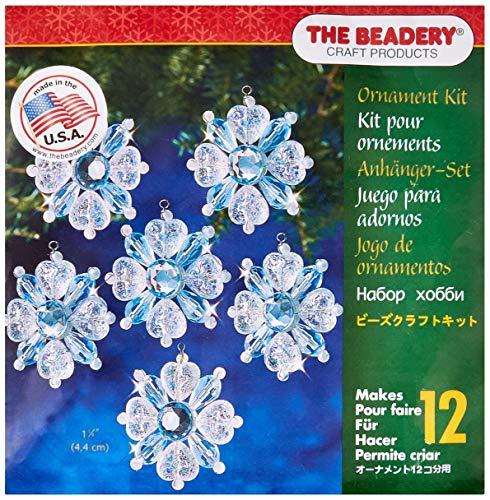 Beadery Kunststoff Holiday Perlen Ornament Kit filigranen Schneeflocken 4,4° cm Macht 12 -