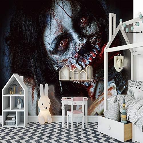 3D Poster Drucken Dekor Drucken Wandbilder Foto Kunst Horror Weibliche Geist Wandbild Wandaufkleber Wohnzimmer Schlafzimmer Dekoration400cm(W) x200cm(H)-8 Stripes (Weibliche Superhelden Fotos)