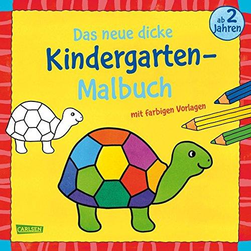 Preisvergleich Produktbild Das neue, dicke Kindergarten-Malbuch: Mit farbigen Vorlagen und lustiger Fehlersuche: Malen ab 2 Jahren