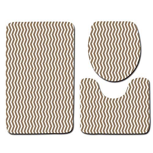 Klein Ball Teppich-3Teile/Satz Druck rutschfeste Wc Bad Pad Bodenmatte Teppich Teppich Saugfähigen Sockel Teppich Deckel Toilettendeckel Bad Mat45X75CM -