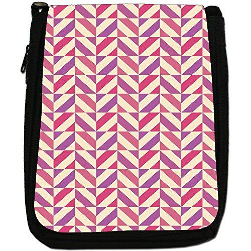 Fancy A Snuggle, Borsa a spalla donna Stripe In Square Shape Pattern