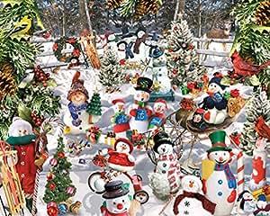 Puzzle Puzzle 1000 pièces 24 « X 30 »-bonhommes de neige
