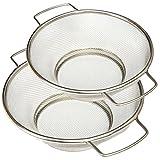 Del - Küchensieb aus Edelstahl - Feinmaschiger Seiher mit 2
