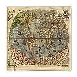 Soefipok Bandana antica, Storia della mappa del mondo antico, Fascia per capelli testa e collo unisex