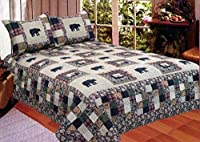 American Hometex Black Bear Medley Quilt Set, King by American Hometex from American Hometex