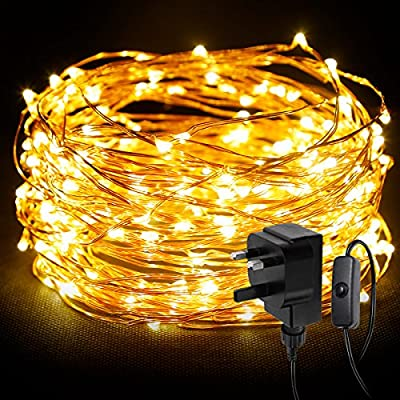 LE 20m 200 LED String Light Waterproof Copper Wire Fairy Starry Lights Firefly Lights Warm White Garden Patio Party Valentine's Day Wedding Christmas Tree Outdoor Decoration Bedroom - inexpensive UK light shop.