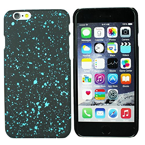 Heartly Night Sky Glitter Star 3D Printed Design Retro Color Armor Hard Bumper Back Case Cover For Apple iPhone 6 Plus 5.5 inch - Light Blue  available at amazon for Rs.129