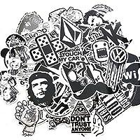 Yaxitu 60pcs Aléatoire Autocollants Snowboard Vintage Vinyl Skateboard Stickers Autocollant Aléatoire Graffiti Laptop Bagages Car Bike Stickers vélo mix Alot Cool Decal