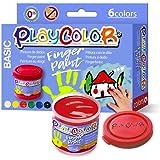 Playcolor Finger Paint 40ml - Pintura De Dedos - 6 Colores surtidos - 17591