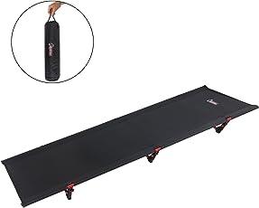 ALPIDEX Ultraleichtes Feldbett Campingbett belastbar bis 120 kg, lediglich 1.815 g inkl. Packsack, Bodenfreiheit 16 cm, minimales Packmaß