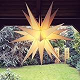 Außenstern / Outdoorstern, ca. 60 cm Adventsstern aussen / Weihnachtsstern / Leuchtstern, inkl. Elektrik (weiß)
