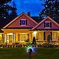 Außen Party Projektionslampe RGB Strahler ferngesteuert LED Projekt Lampe mit Aluminium-Körper und Kautschuk Schutz, 5m Stromkabel, wasserdicht