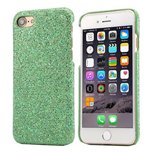 Schutzhülle Apple iPhone 7 4.7 inch Hülle Case - Rosa, Besondere Textur Bunt Serie Verschiedene Farben Dünn Leicht Funkeln Glitzer Luxus Hübsch Schwer Hardcase Cover Grün
