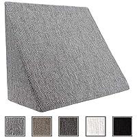XL Almohada de cuña para sala de estar y dormitorio, cojín de lectura, almohada