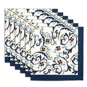 serviette de table set de 6 100 coton indien floral multicolore lavable rapide 20 pouces. Black Bedroom Furniture Sets. Home Design Ideas
