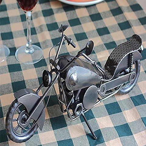 Le Metal Iron Wine Rack créatif moto Wine Rack Home Furnishing Fashion Ornaments, 350* 140* 170mm