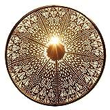 albena shop 71-6329 orientalische Wandlampe Metall rund (Rina schwarz ø 48cm)