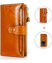eca9145798d86 Safekeepers Leder Damengeldbörse – Portemonnaie mit Handyfach und ...