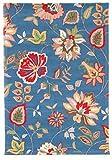 Trendcarpet Wollteppich - Amári (blau/bunt) Größe 200 x 300 cm