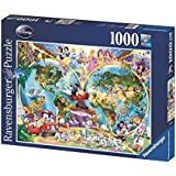 Ravensburger RAVENSbURGER 1000 Teile Puzzle Disney's Weltkarte
