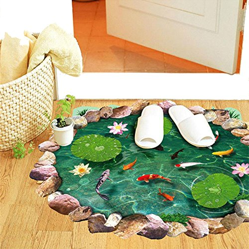 pvc-3d-lotus-goldfish-pool-boden-treppe-aufkleber-auf-der-tur-room-decor-creative-fussmatte-art