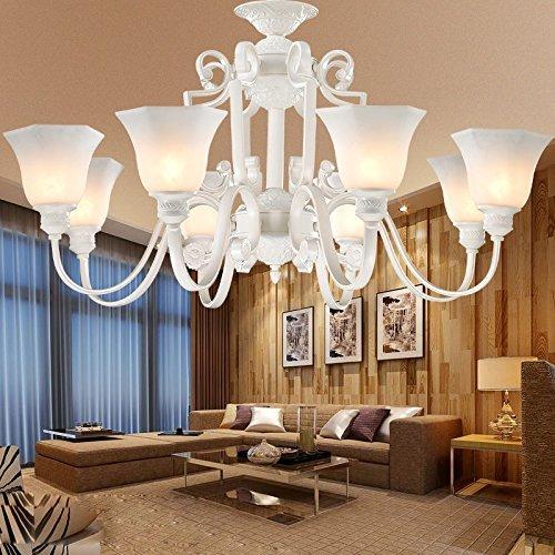Dekorative 12-licht Kronleuchter (MOMO Personalisierte dekorative Beleuchtung Crystal Rose 12 Kronleuchter)