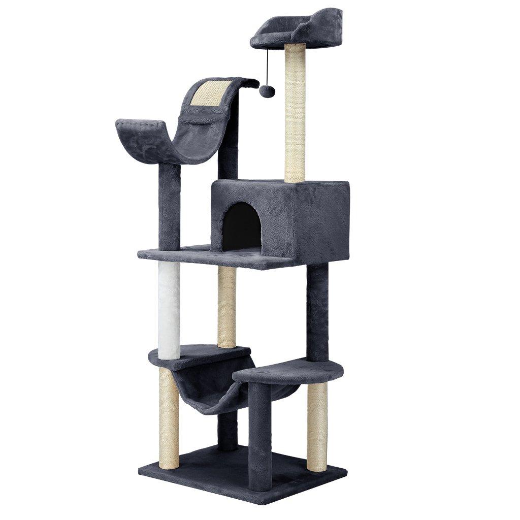 grand arbre chat avec griffoir niche hamac plate forme. Black Bedroom Furniture Sets. Home Design Ideas