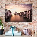 Bilderwelten Glasbild - Abendstimmung in Venedig - Quer 2:3, Wandbild Glas Bild Druck auf Glas Glasdruck, Größe HxB: 40cm x 60cm