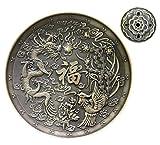 Squisito bronzo Dragon Phoenix tibetano incenso Titolare applicabile a incenso cono/bastone/spirale di incenso