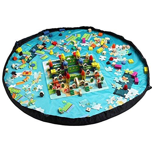 lenhart-grand-1499cm-diamtre-bb-tapis-de-sol-pour-enfant-jouet-organiseur-sac-de-rangement-bleu-bleu