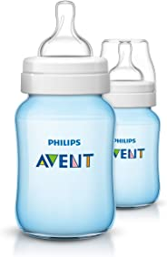 Philips Avent SCF565/62 Classic Plus Slow Flow Baby Bottle, 260ml, Pack of 2