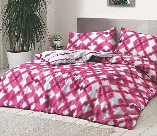 Krawatte gefärbt Pink Bettwäscheset, Bettbezug, Premium Qualität REVERSIABLE Set mit Kissen Fall durch MAS International Ltd, Polycotton, rose, Einzelbett (Karo-paisley-krawatte)