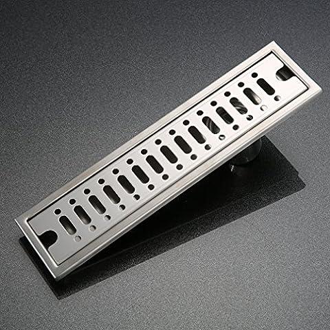 KINSE® Enlosable canal de ducha de desagüe en el suelo desagüe de ducha30cm - acero inoxidable