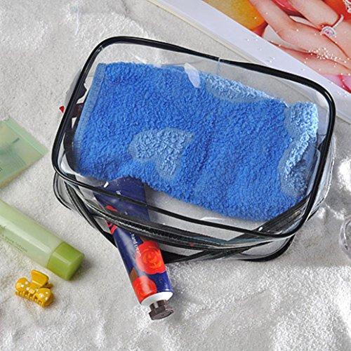 Igemy NEUF Portable Effacer Sac de voyage maquillage cosmétique Transparent voir à travers