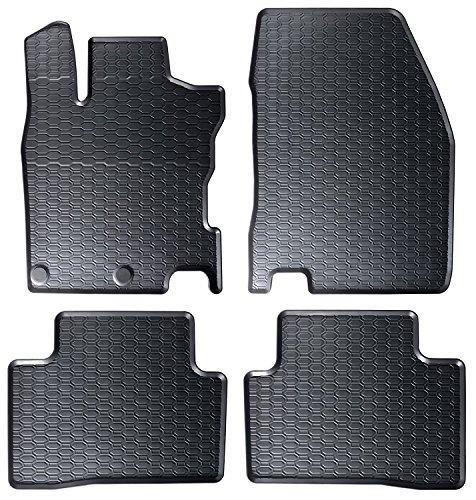 DAPA 1104004-2 Auto-Gummimatten in schwarz und Wabendesign, Geruch-vermindert und passgenau mit verbauten Befestigungen