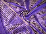 Brokat Stoff violett X Gold Farbe 121,9cm bro525[6]