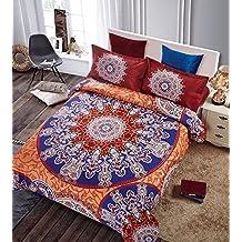 4pcs 1,35 cama doble funda nordica Boho estilo bohemio Edredón cubrir conjunto