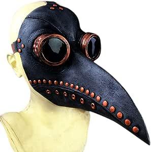 MFAHFD Horrible Steampunk Oiseau M/édecin Peste Masque Long Bec Cosplay Party Halloween Costume