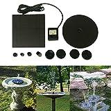 Rcool New Floating Solar Powered Pond Garden Water Pump Fountain Kit Bird Bath Fish Tank Aquarium Solar Sprinkler Fountain