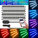 Striscia LED Auto con APP, Minger LED Auto Interni 72 LEDs,...