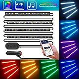 Striscia LED Auto con APP, Minger LED Auto Interni 72 LEDs,...