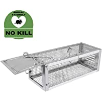 RatzFatz® Gabbia Trappola in Metallo per Catturare Animali Vivi di Piccola Taglia 31.5×13×12cm Come Conigli, Ratti, Topi, Faine o Altri Animali Selvatici