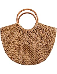 My Home Creative Brown Bamboo Handbag