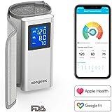 Koogeek Misuratore Pressione da Braccio Bluetooth/WIFI, Sfigmomanometro Digitale, Certificazione FDA con Rilevazione della Frequenza Cardiaca con modalità di memoria per APP da iOS/Android