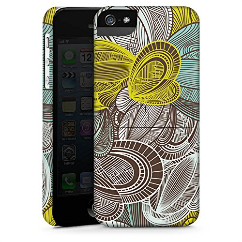 Apple iPhone X Silikon Hülle Case Schutzhülle Muster Blätter Bunt Premium Case StandUp