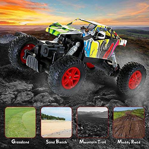 RC Monstertruck kaufen Monstertruck Bild 1: GoStock Ferngesteuertes Auto Elektro Offroad RC Lastwagen 1:18 2,4 Ghz 4WD Off Road Monstertruck Rock Crawler*