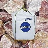 Gabionen Steine - 1000kg BigBag - Marmorkies Arabescato - 70-120 mm - untereinander mischbar oder mit Glaselementen und Licht kombinieren