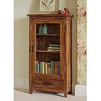 Style Well's Minion Book Shelf/Storage Cabinet/Kitchen Crockery Cabinet in Teak Finish