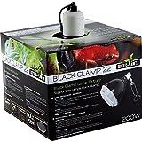 REPTILES PLANET Éclairage Support de lampe avec réflecteur Black Clamp 22 D22 X H 24,5 cm